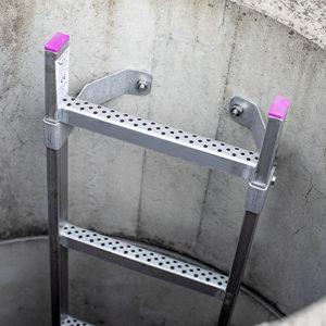 Schachtleiter aus Edelstahl 340 mm